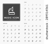 music thin  medium and bold... | Shutterstock .eps vector #289514561