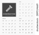 construction thin  medium and... | Shutterstock .eps vector #289514669