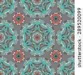 seamless pattern ethnic style....   Shutterstock .eps vector #289520099