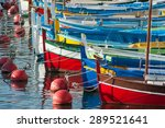 Colourful Boats Docked In The...