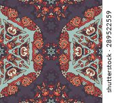 seamless pattern ethnic style.... | Shutterstock .eps vector #289522559