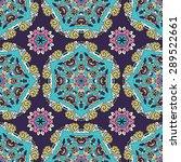 seamless pattern ethnic style....   Shutterstock .eps vector #289522661