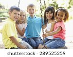 Group Of Children Having Fun I...