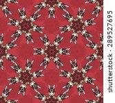 seamless pattern ethnic style....   Shutterstock .eps vector #289527695