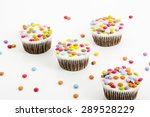 chocolate cupcakes with... | Shutterstock . vector #289528229