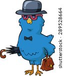 bird with a hat and a valise...   Shutterstock .eps vector #289528664
