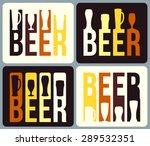 set of beer label design. | Shutterstock .eps vector #289532351
