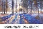landscape blurred autumn forest | Shutterstock . vector #289538774