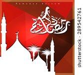 ramadan kareem colorful mosque...   Shutterstock .eps vector #289542761