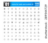 simple line icons for web... | Shutterstock .eps vector #289544729