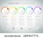 timeline template infographic.... | Shutterstock .eps vector #289547771