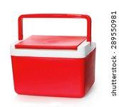 handheld red refrigerator... | Shutterstock . vector #289550981