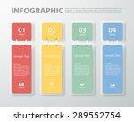 3d digital template infographic.... | Shutterstock .eps vector #289552754