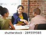 couple meeting with financial... | Shutterstock . vector #289559585