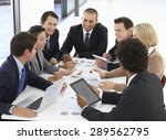 group of business people having ... | Shutterstock . vector #289562795