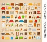 set of eighty six illustrations ... | Shutterstock .eps vector #289567244