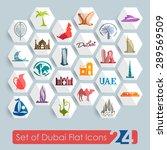 Set Of Dubai Flat Icons For We...