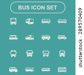 bus icon set | Shutterstock .eps vector #289570409