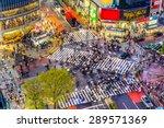 tokyo  japan view of shibuya... | Shutterstock . vector #289571369