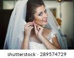 beautiful brunette stylish... | Shutterstock . vector #289574729