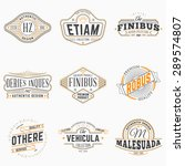 set of hipster vintage labels ... | Shutterstock .eps vector #289574807