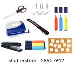 collection of office objects... | Shutterstock . vector #28957942