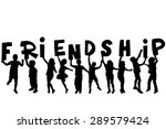friendship concept with black... | Shutterstock . vector #289579424