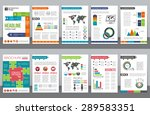 set of corporate business... | Shutterstock .eps vector #289583351