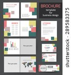 set of corporate business... | Shutterstock .eps vector #289583375
