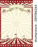 circus grunge red poster . a... | Shutterstock .eps vector #289586264