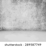 old empty room with concrete... | Shutterstock .eps vector #289587749