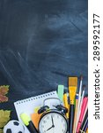 school supplies on the... | Shutterstock . vector #289592177