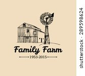 vector retro family farm... | Shutterstock .eps vector #289598624