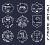 vector set of vintage bakery... | Shutterstock .eps vector #289598675