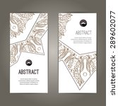 set of banners with doodles... | Shutterstock .eps vector #289602077