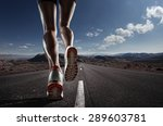 sports background. runner feet... | Shutterstock . vector #289603781
