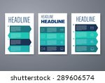 template. vector brochure... | Shutterstock .eps vector #289606574