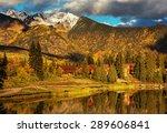 The Beautiful Lake In Autumn
