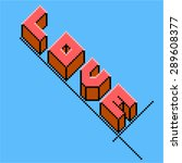 retro style pixel art logo of...   Shutterstock .eps vector #289608377