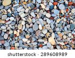 Colorful Pebble Stones Texture...