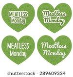 meatless monday heart shaped... | Shutterstock .eps vector #289609334