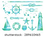 vector set of nautical elements.... | Shutterstock .eps vector #289610465