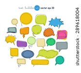 text bubbles colored forms set... | Shutterstock .eps vector #289618004