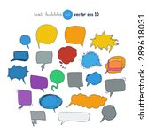 text bubbles colored forms set... | Shutterstock .eps vector #289618031