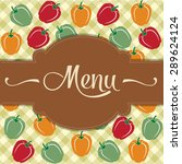 restaurant menu design with... | Shutterstock .eps vector #289624124