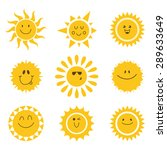 vector set of sun icons.... | Shutterstock .eps vector #289633649
