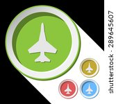 color icons with fighter and... | Shutterstock .eps vector #289645607