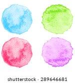 set of color watercolor... | Shutterstock .eps vector #289646681