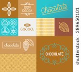 vector set of design elements... | Shutterstock .eps vector #289650101