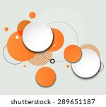 vector modern design circle... | Shutterstock .eps vector #289651187